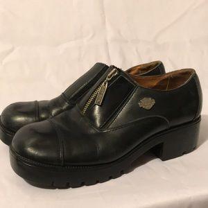 Harley-Davidson zip up leather shoes sz 9